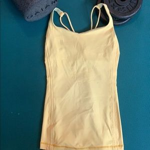 Women's Lululemon cross-back fitted athletic top